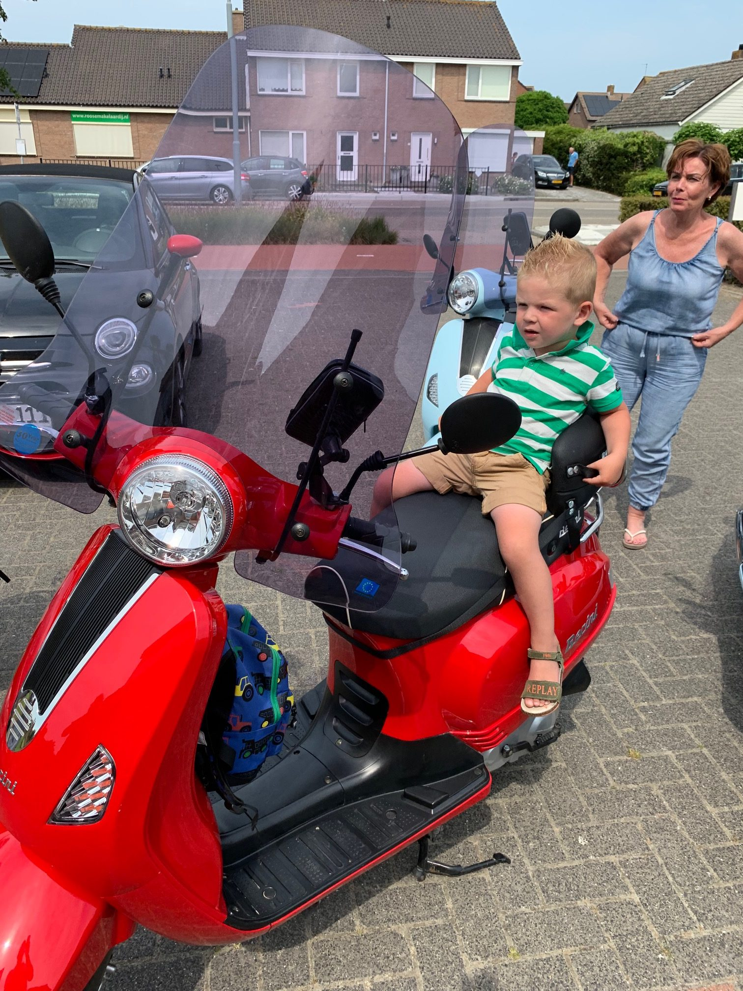 Verhuurscooter met kinderzitje
